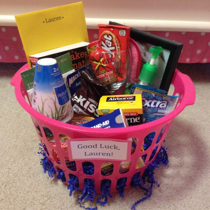 Going away to college gift basket graduation gift idea