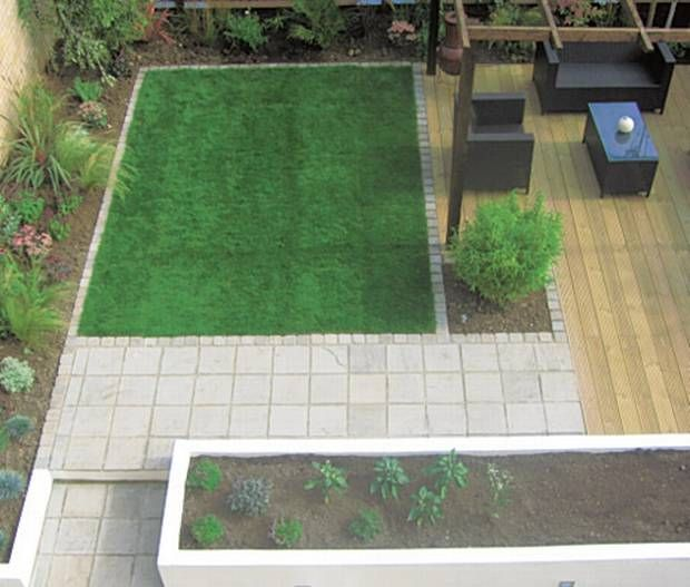 33 best images about Lawn Shapes on Pinterest   Gardens ... on Square Backyard Design Ideas id=38836