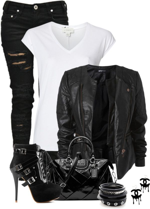"""""""Biker Chick"""" by fashion-766 ❤ liked on Polyvore"""