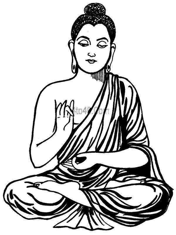 Buddha Face Coloring Pages Lord Buddha Coloring Book Top
