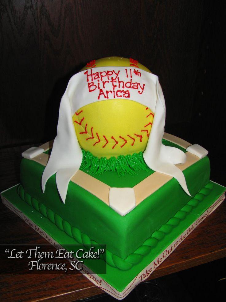 Softball Cakes For Girls Homemade