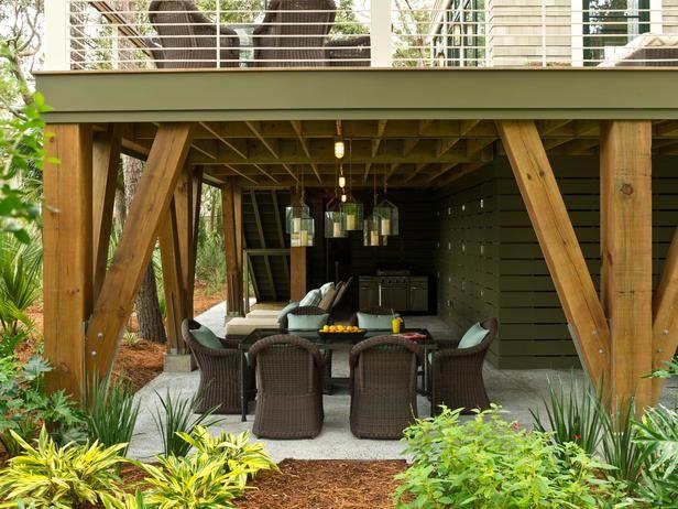 17 Best images about Deck Ideas on Pinterest   Wood decks ... on Under Deck Patio Ideas id=61265