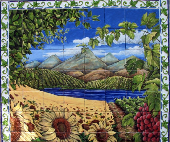 15 Best Tile Murals For Wine Cellars Images On Pinterest