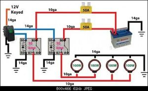 Off road light wiring diagram  | Automotive Electronics