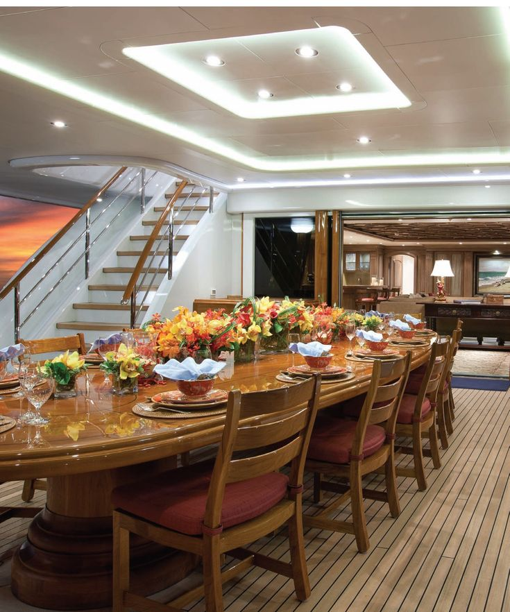 239 Best Images About 08 DINING Yachts On Pinterest