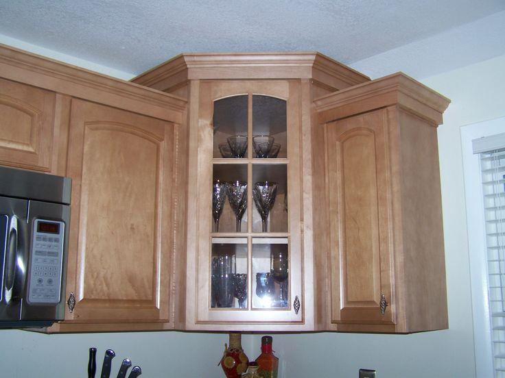 Kitchen Corner Cabinet With Glass Door CAM Premium
