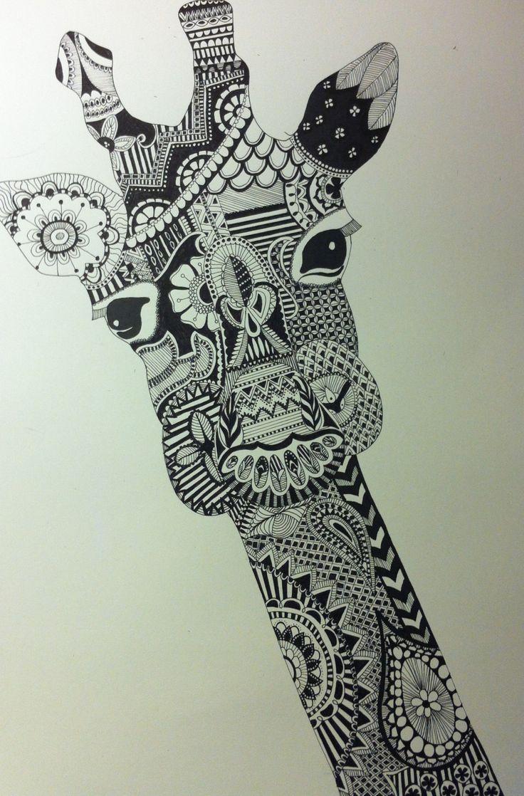 Zentangle Giraffe Zentangle Pinterest Giraffes And