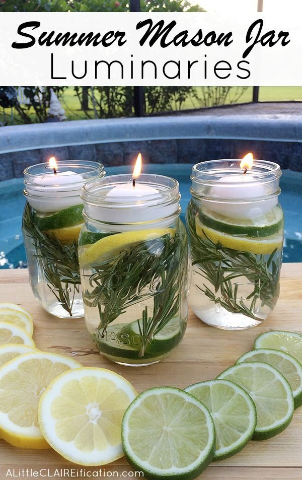 Summer Mason Jar Luminaries – These are not only easy and beautiful they are also a chemical free DIY