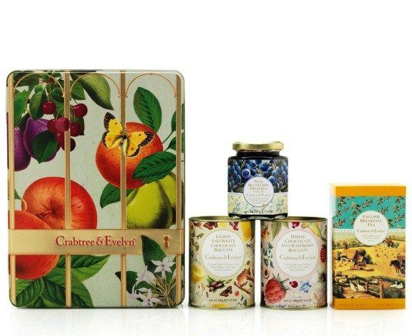 Festive Tin 2013 Biscuits Jam And Breakfast Tea Inhala Crabtree Amp Evelyn Pinterest