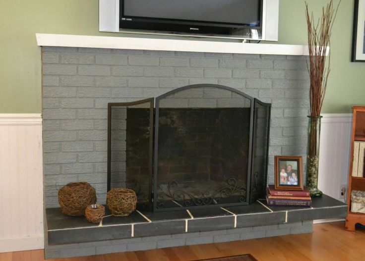 Ideas Brick Fireplace Update 8642 Brick Fireplace