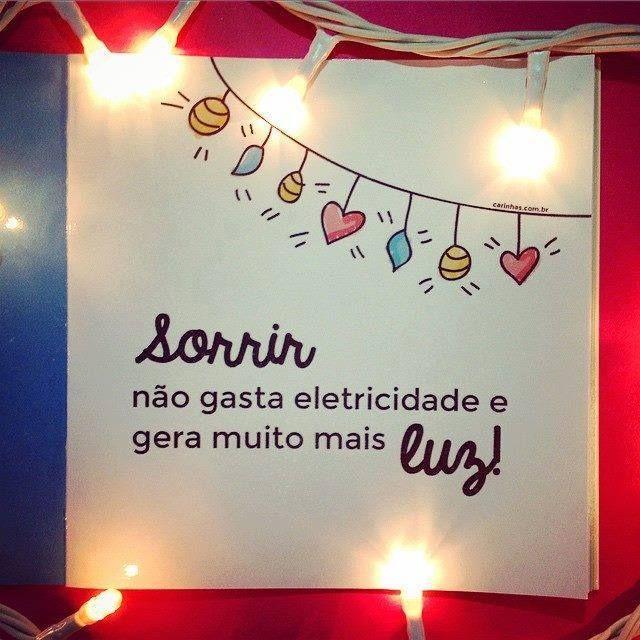 Sorrir gera luz!!!