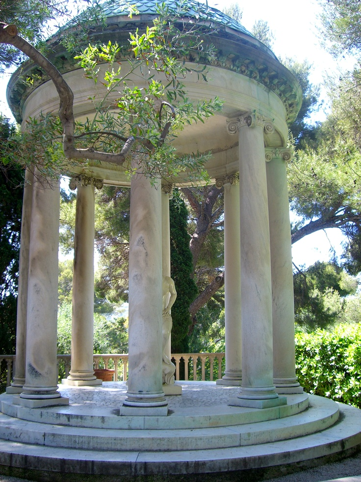 Stone Column Gazebo Rothschild French Mansion