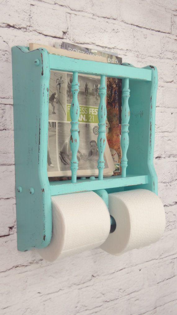 Shabby Chic Bathroom Shelf by ThePinkToolBox on Etsy, $40.00