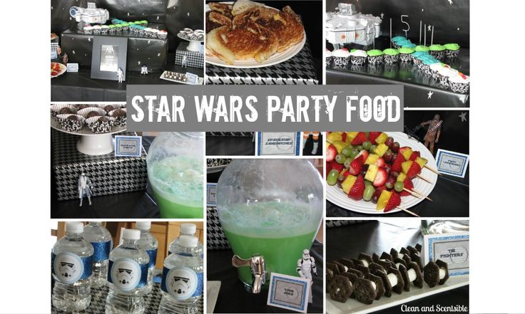 Star Wars Party, Star Donuts And Sodas