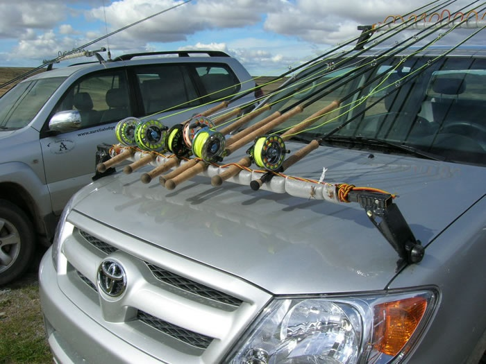 Roof Rack Modified To Make Fly Rod Holder Cool Fishing