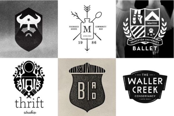 logo update - hipster crest trend