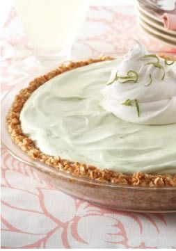 Key Lime Margarita Pie – While there's no alcohol in this creamy frozen dessert, it sure tastes real.