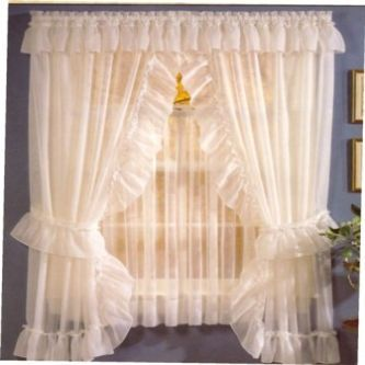 Sheer Priscilla Panel Pair With Attached Valance Big