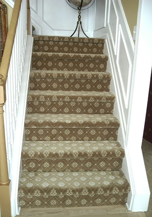 Patterned Stair Carpet Stairs Pinterest Carpets You