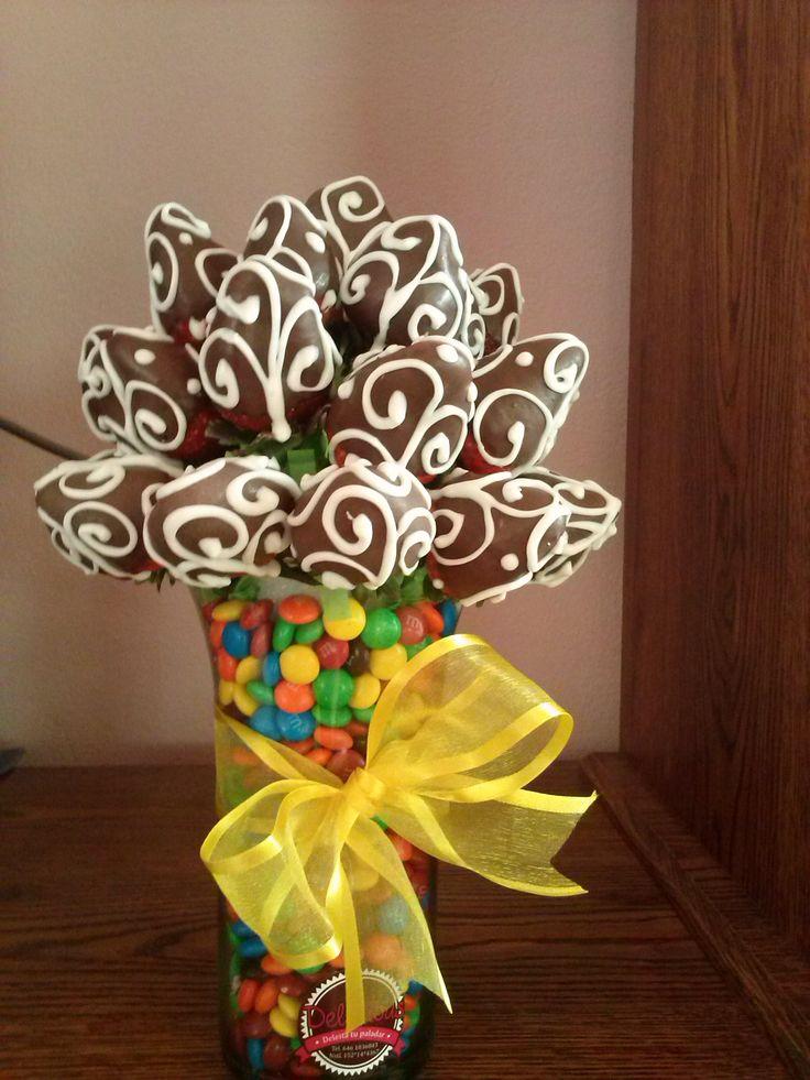 Ramo De Fresas Con Chocolate Arreglos De Fresa