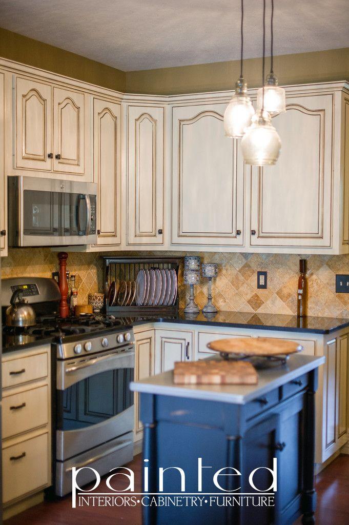 Glazed Kitchen Cabinets Pinstripe Glazing Oyster Bar
