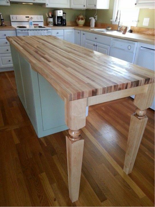 Furniture Chic Kitchen Island Wood Posts For Breakfast Bar