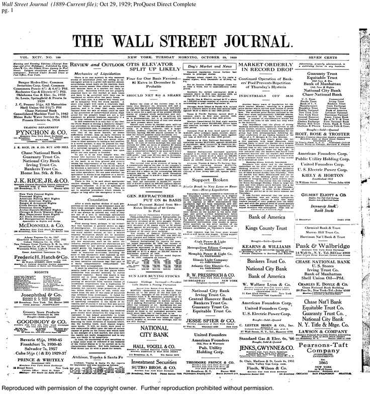 black monday wsj front page oct 29 1929 wsj front on wall street journal login id=86720