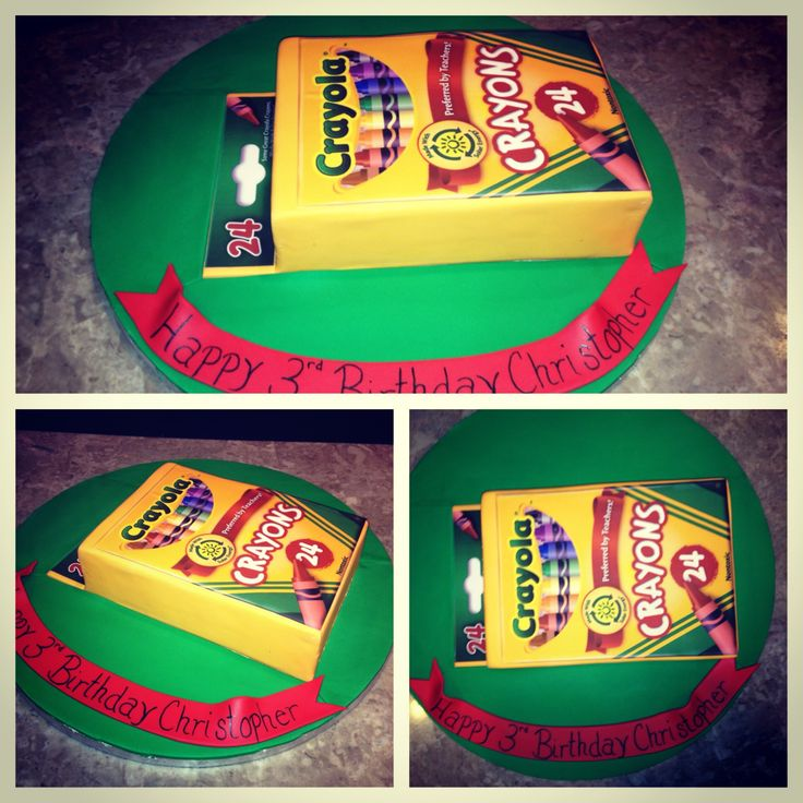 Crayola Crayon Cake Kids Birthday Cakes Pinterest