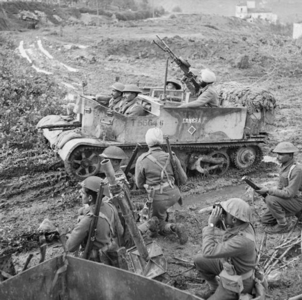 Universal carrier and mortar team of the Indian 6th Royal ...