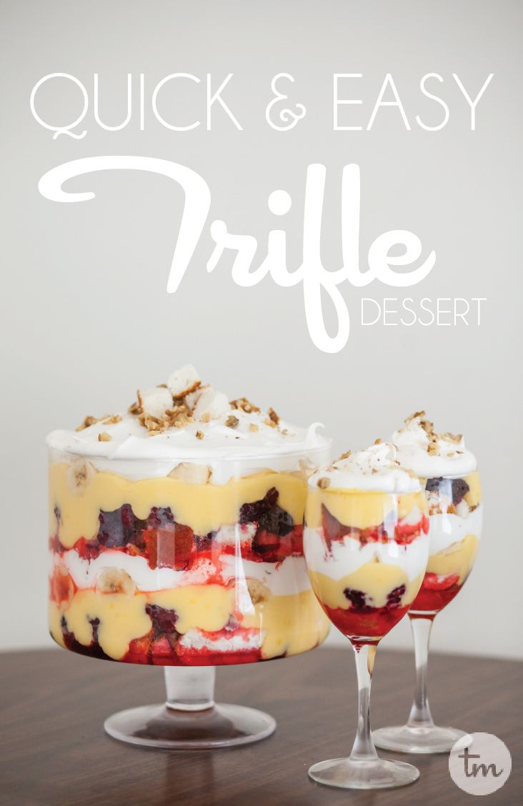 Quick And Easy Trifle Dessert Food Cakes Berries And