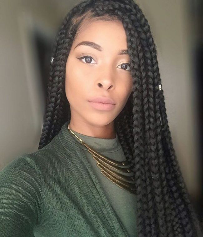 Best 25 Medium Box Braids Ideas On Pinterest