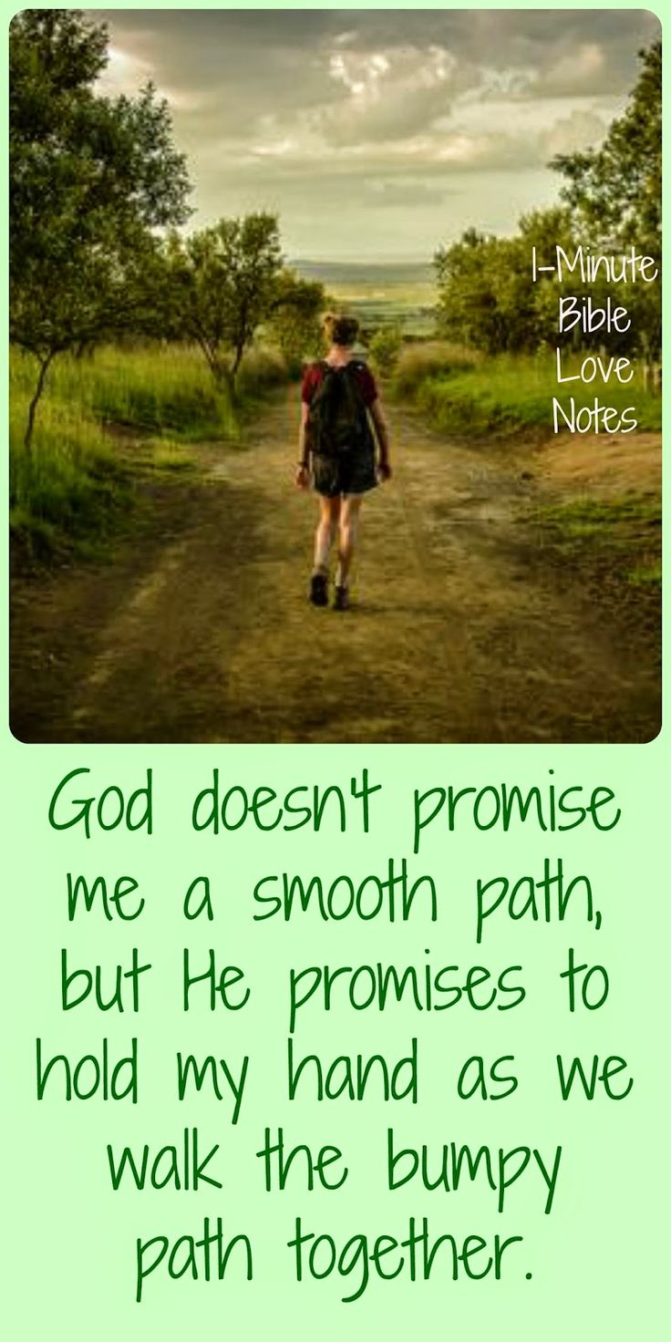 God doesnt promise smooth p