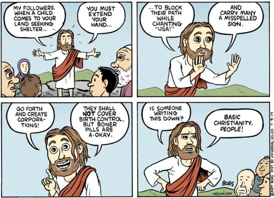 jesus christianity cartoon preaching jesus jokes