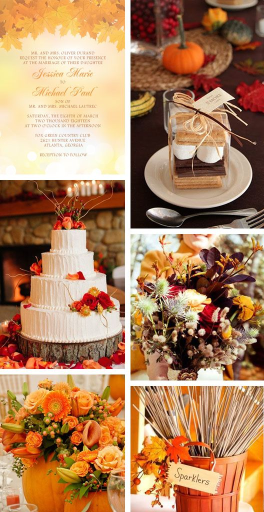 Fall Wedding Inspiration: Okay these are really nice but if you look at the date