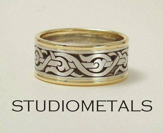 Mens Wedding Ring Nordic Ring Viking Ring Mens By