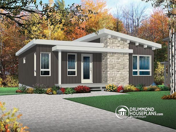 Affordable Modern 4 Bedroom House Plan With Open Floor 2 Family Rooms
