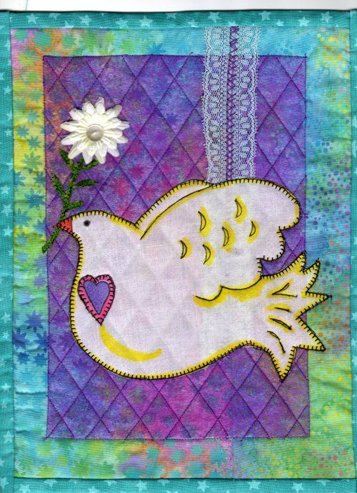 Small Quilt Peace Dove By Susan Ramey Cleveland At