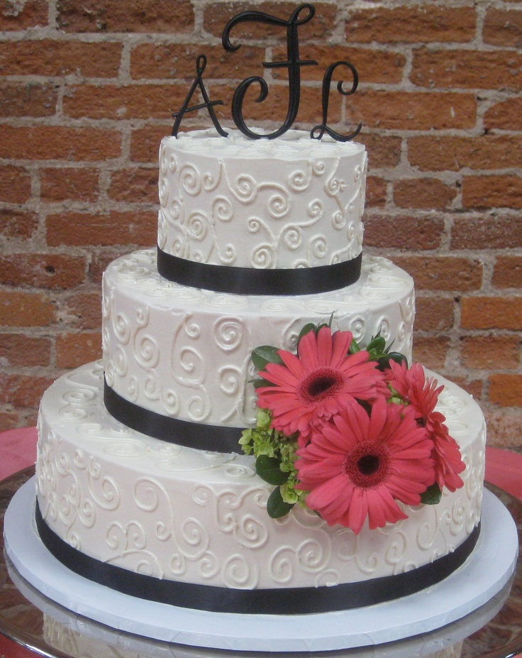 Simple Buttercream Buttercream Wedding Cakes Pinterest
