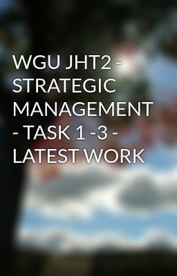 Wgu financial analysis task 3 Coursework Help - July 2019