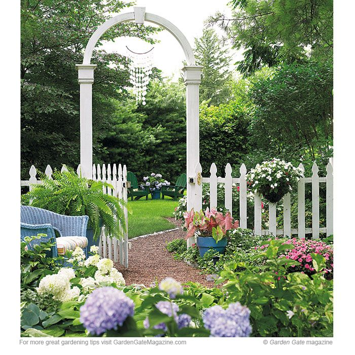 More ways to add color | Best Garden gate and Gardens ideas on Gate Color Ideas  id=34947
