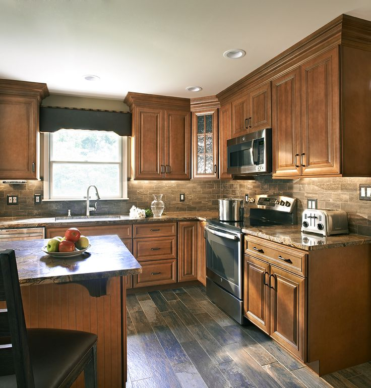 wolf classic cabinets in hudson heritage brown with chocolate glaze wolf classic cabinets on c kitchen id=77344