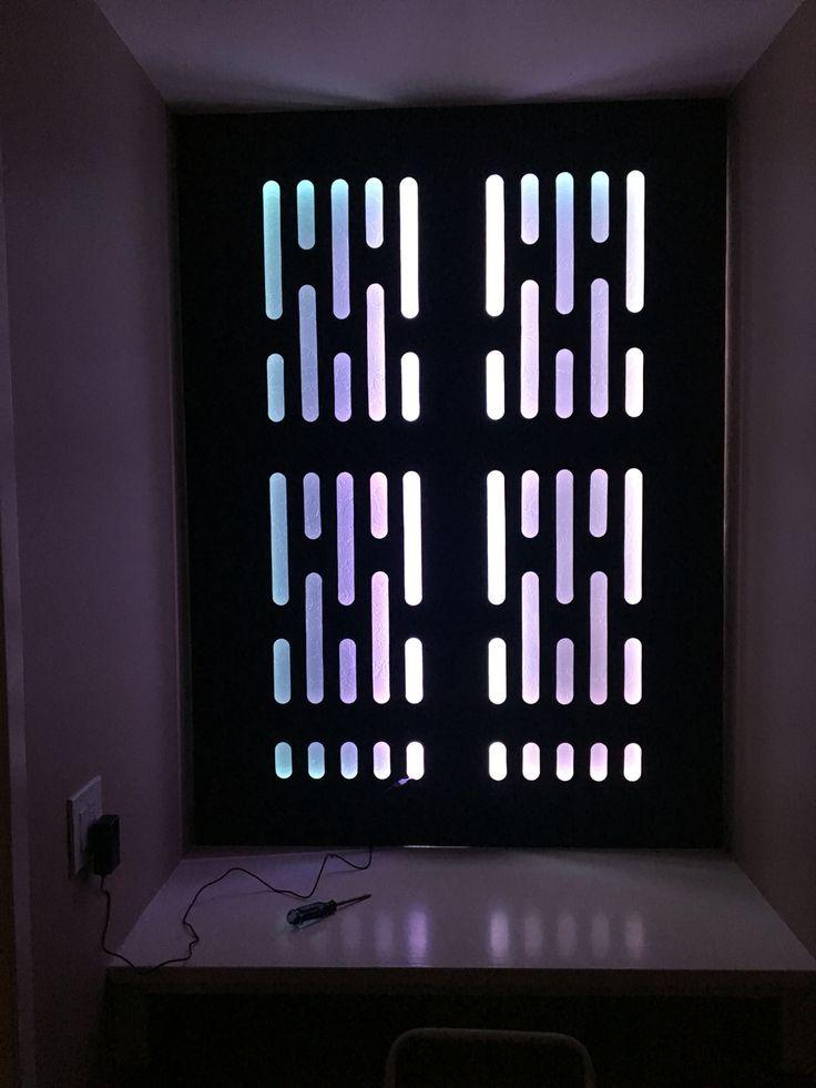 Death Star Custom Wall Panel With RGB Lighting Star Wars Pinterest Death Star Lighting