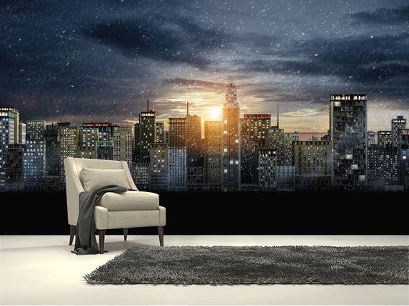 Gotham City Skyline The Dark Knight Rises Wall Mural Room