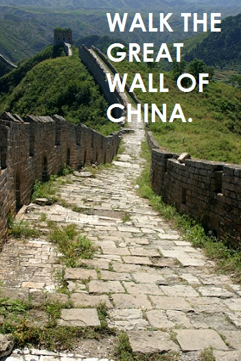walk the great wall of china though when my dad was their on great wall of china id=66134