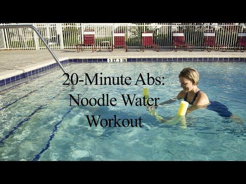 20 Minute Abs Noodle Water Workout Youtube Water