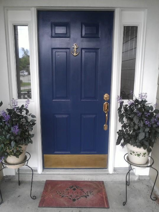Nautical Navy Blue Paint From Lowes And Anchor Door