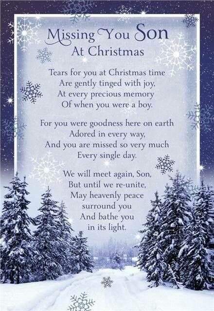 Missing My Son At Christmas In Loving Memory Of Tyler