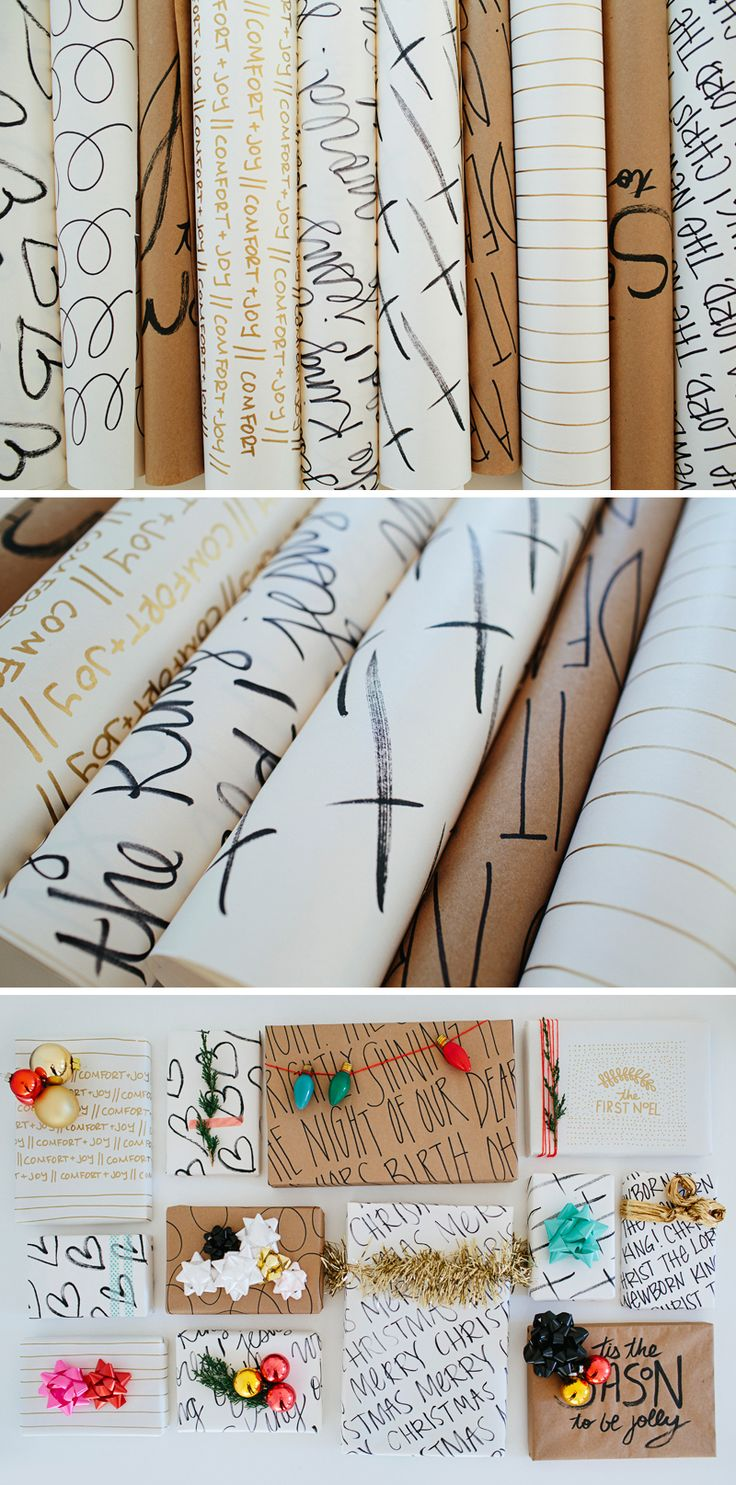 Inspirational  DIY Wrapping Paper // DIY Christmas- walk in love.