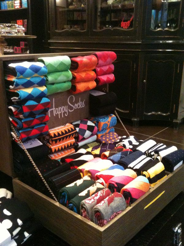 Socks In Cigar Box Display At Pierrot Et Coco