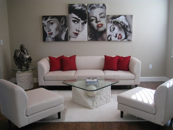 Love This Idea With The Pics And Modern Feel Of Room But Yet Marilyn Monroe Decormarilyn
